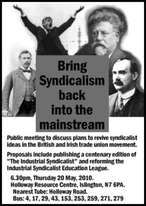 Public meeting on syndicalism - 20 May, 2010