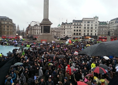 Thatcher Party in Trafalgar Square
