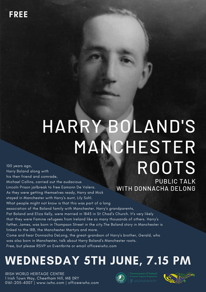 Harry Boland Manchester talk